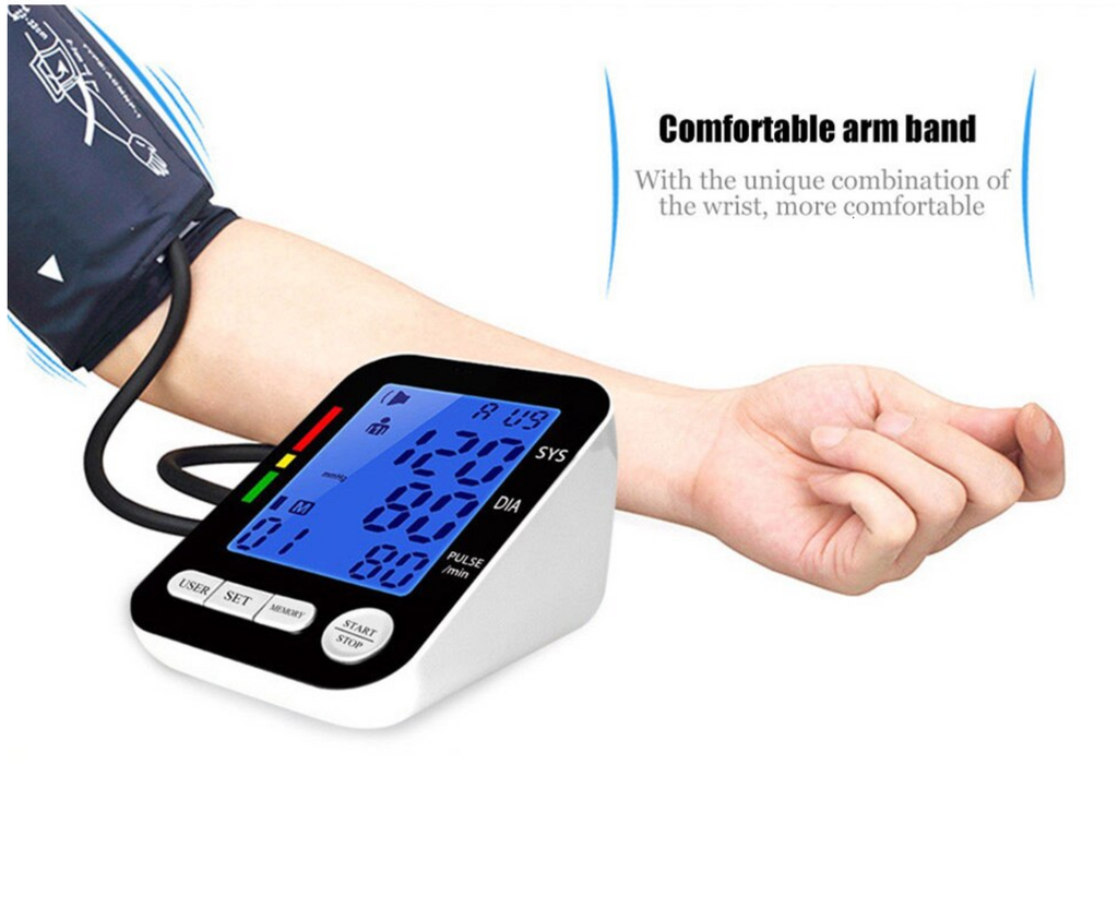 Vital BP™ Monitor Arm Cuff USB HD Digital Rechargeable Easy To Read
