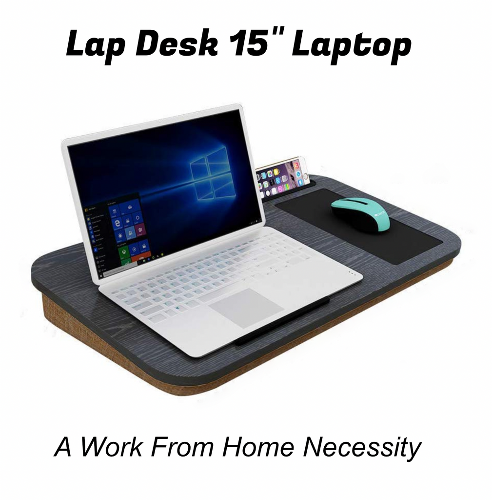 HomeBound™ Laptop Desk with Built-In Mouse Pad and Cellphone Tablet Holder