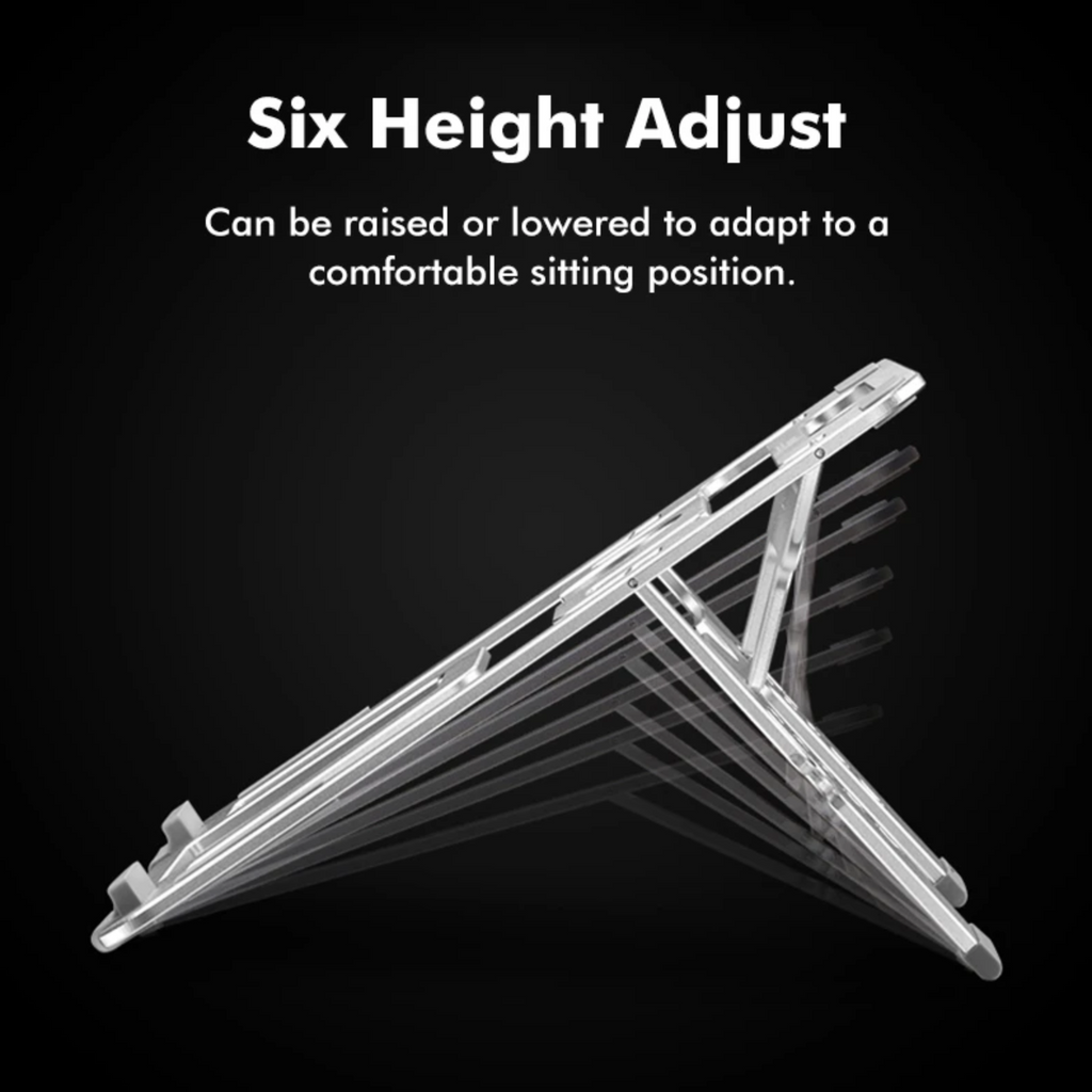 Laptop Stand Aluminum Height Adjustable Folding Cooling