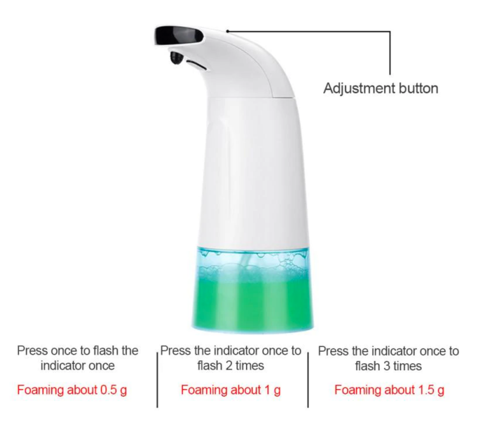 NoTouch™ Automatic Foaming Hand Soap Wash Infrared Smart Sensor