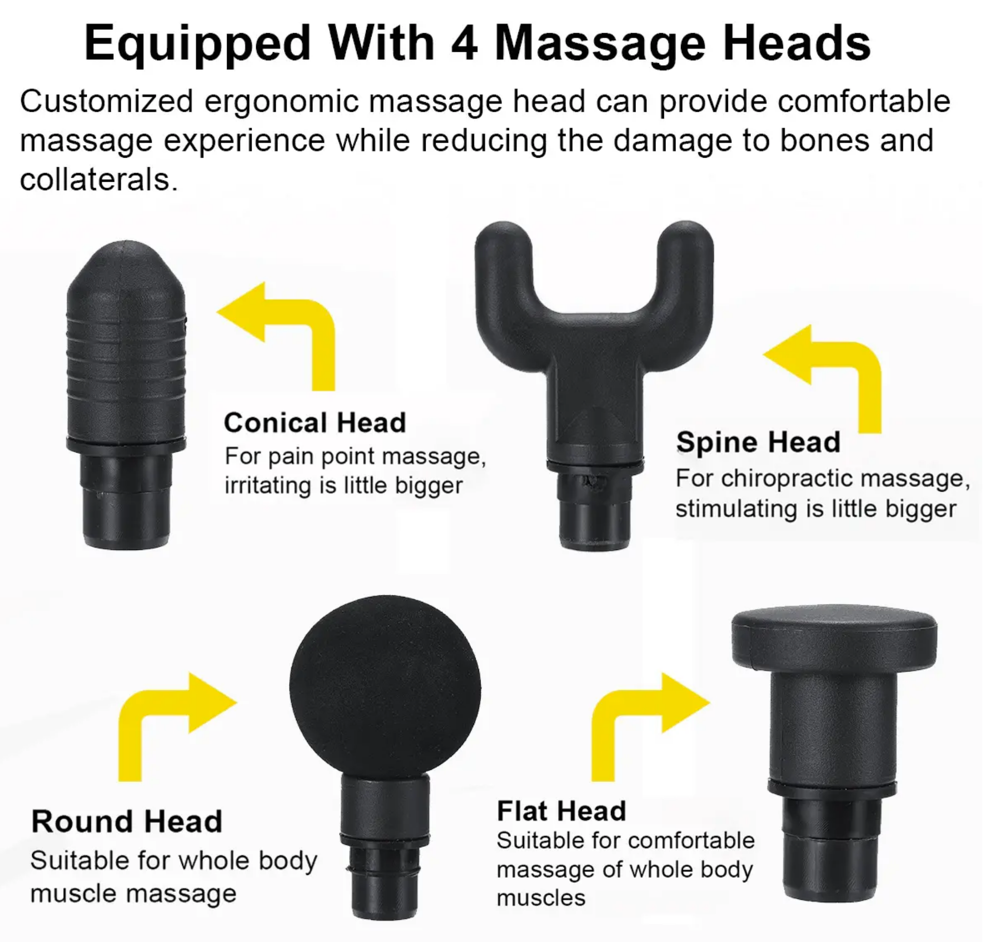 MassagePro™ Therapy Vibration Gun Deep Tissue Rechargeable 30 Gears