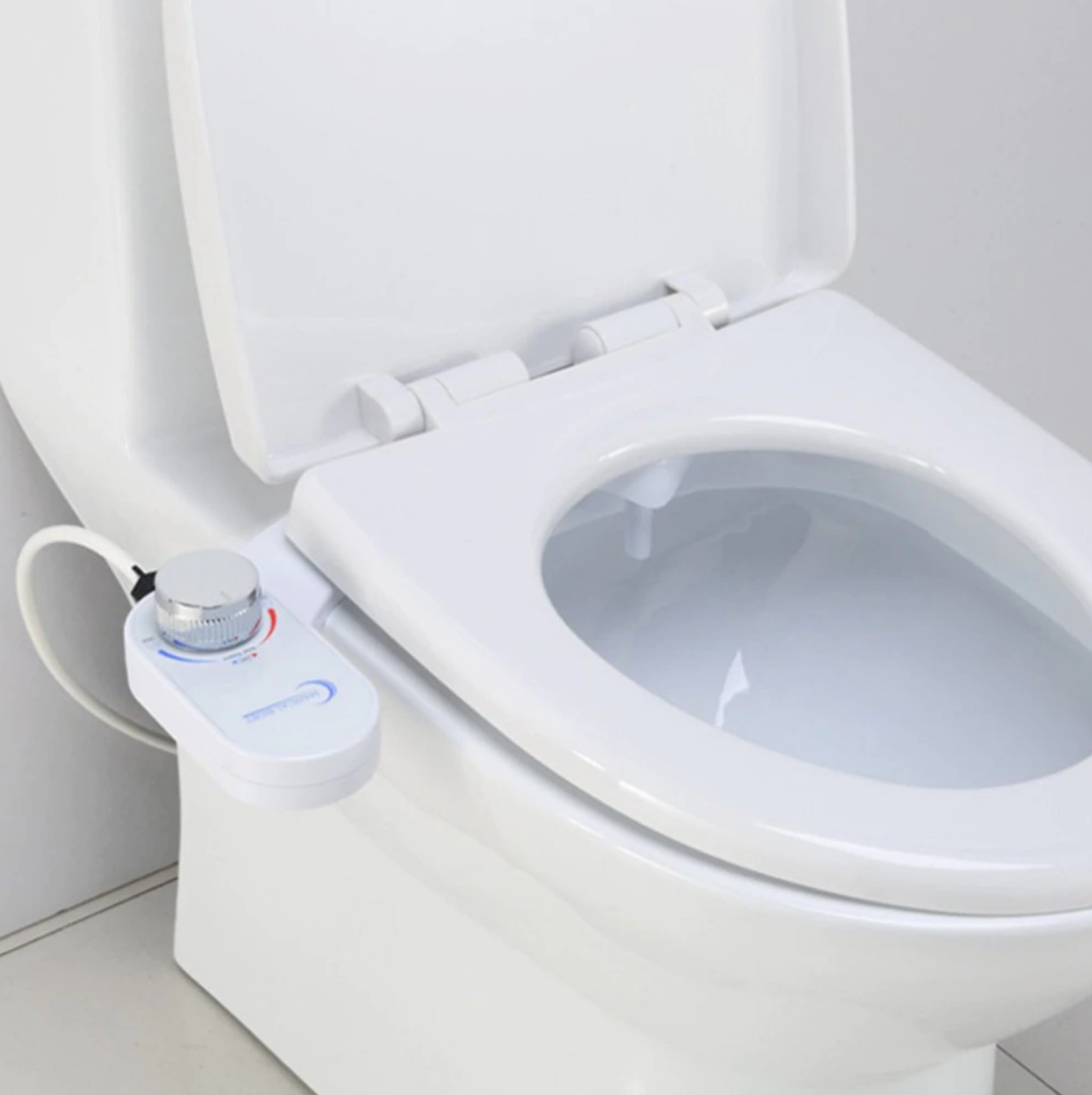 Use Less TP Toilet Bidet Attachment Dual Nozzle Self Sterilizing Non-Electric Easy Install