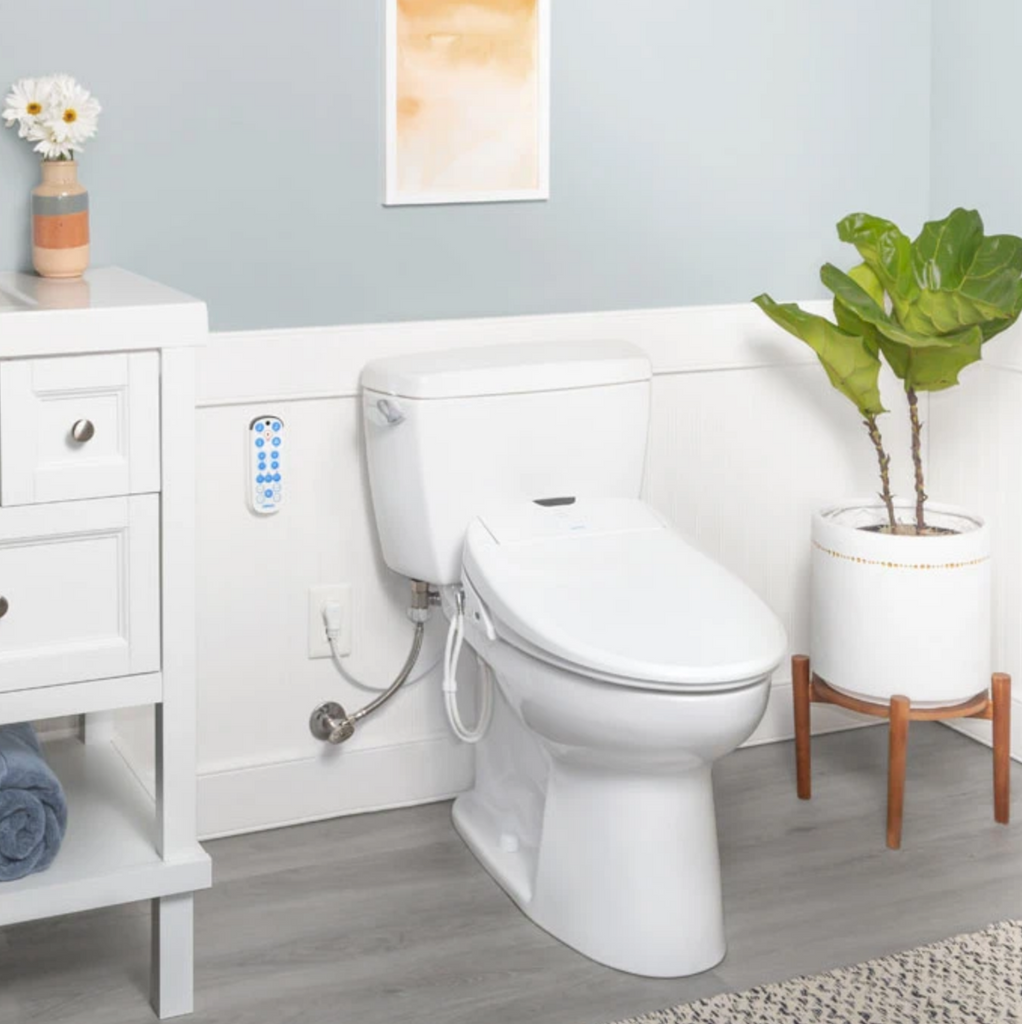 Use Less TP Eco-Fresh™ Bidet Luxury Toilet Seat Heated Water & Seat w Remote Auto Sanitize