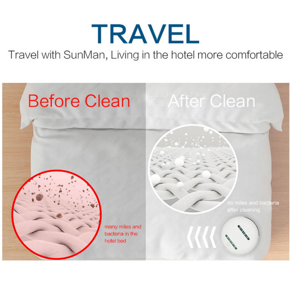Sterilizing Robot UVC Light Ultrasonic Wave Auto Disinfection Smart Bed Mite Killer