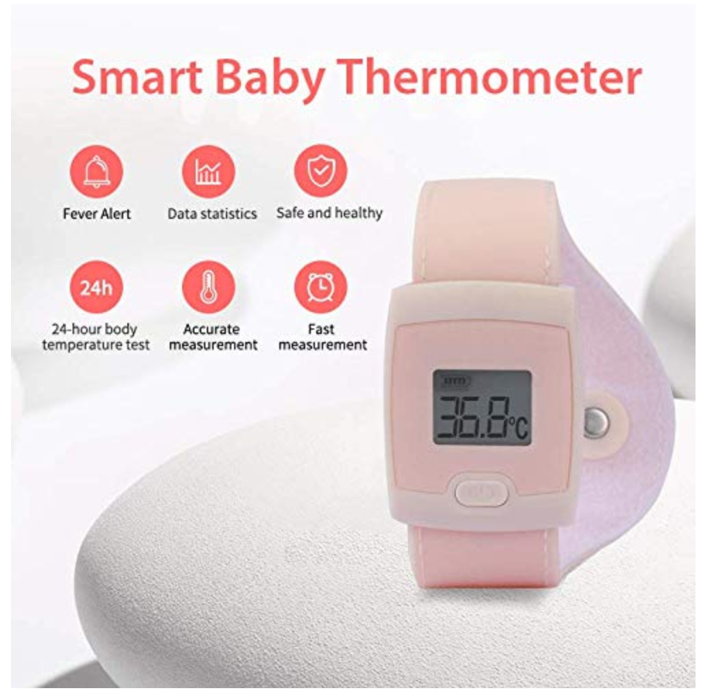 FeverBand Baby Arm Thermometer Smart LED Alarm Bluetooth