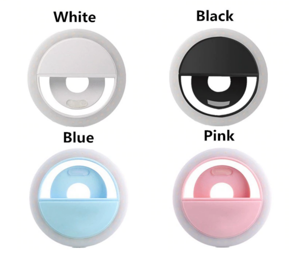 Selfie Ring LED Conference Call Laptop Phone Light Rechargeable Clip-On