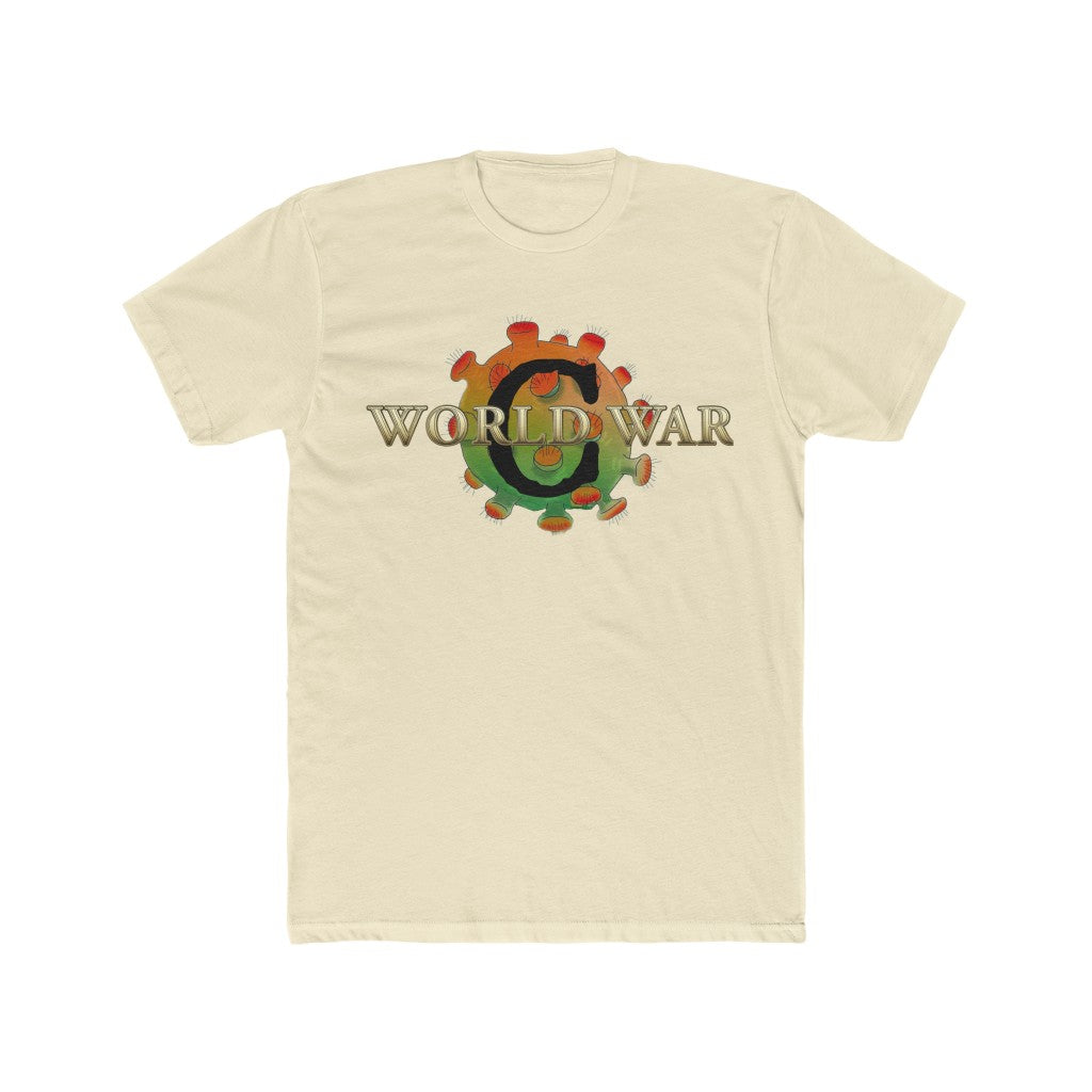 World War C - We Are In The Fight Of Our Lives Men's Cotton Crew Tee EXCLUSIVE DESIGN