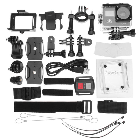 4K MiniDV Waterproof Action Camera Accessories Included in Kit
