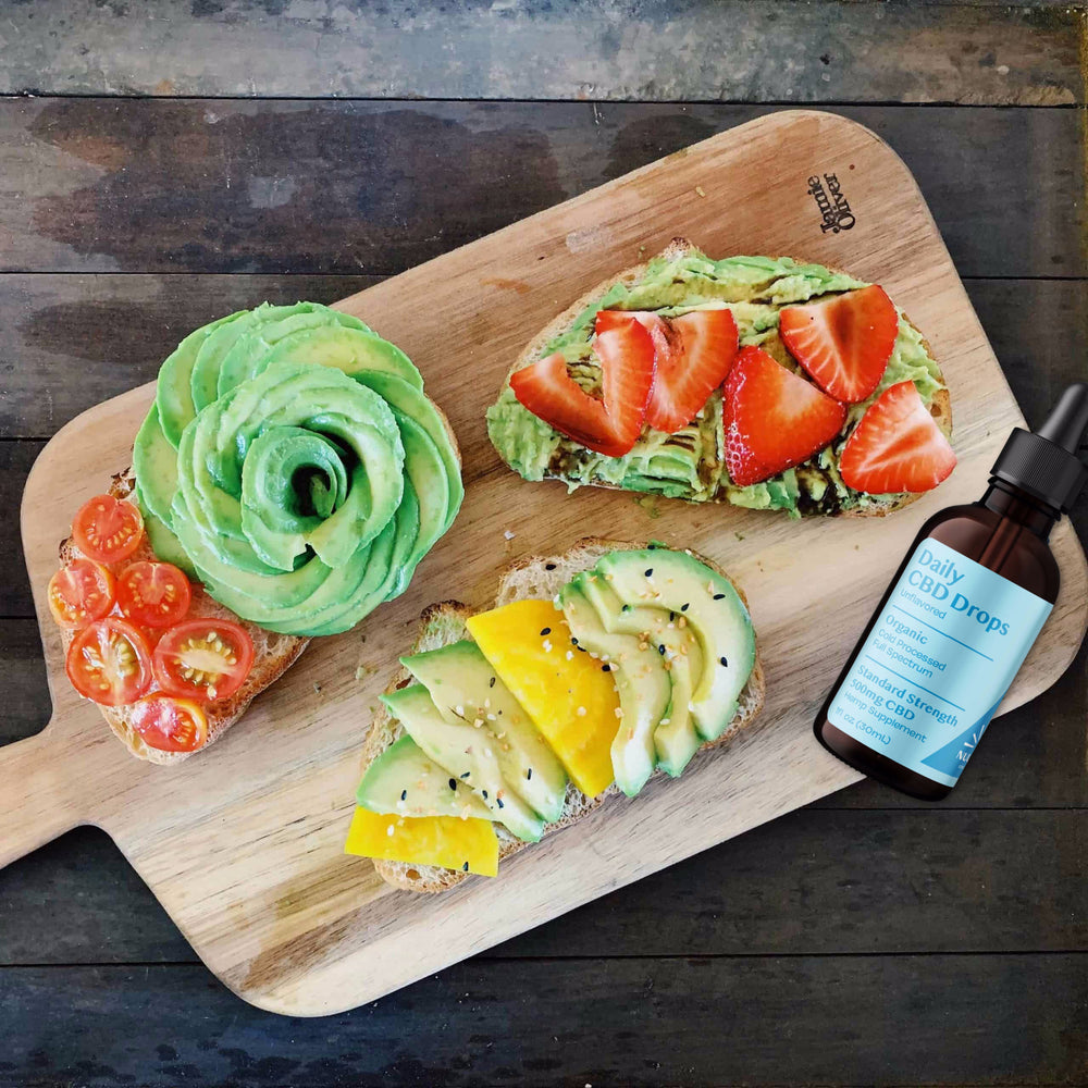 Three simple Organic CBD Avocado Toast Recipes: max bragging rights!