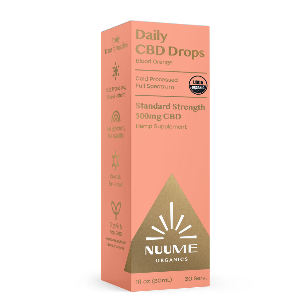 Organic CBD: Blood Orange Drops by NuuMe Organics