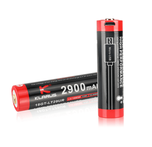 Klarus 18GT-LT29UR 2900mAh High Discharge 18650 Li-ion Battery