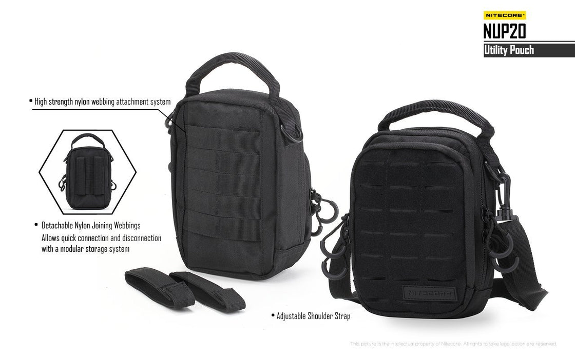 Nitecore NUP20 Tactical Backpack Utility Pouch