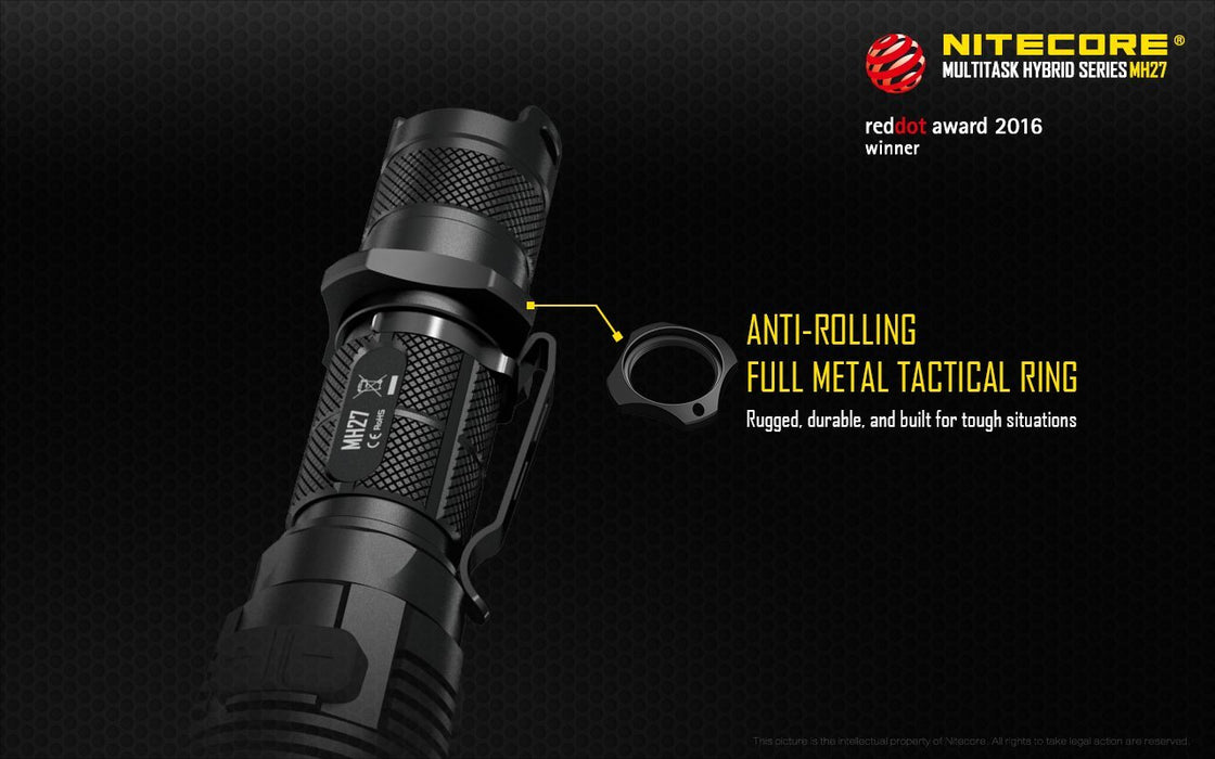 Nitecore Multitask Hybrid MH27 USB Rechargeable Tactical Flashlight