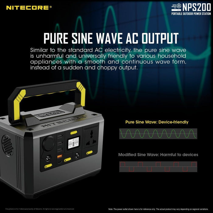 Nitecore NPS200 54.6AH Portable Power Station Battery Charger Nitecore