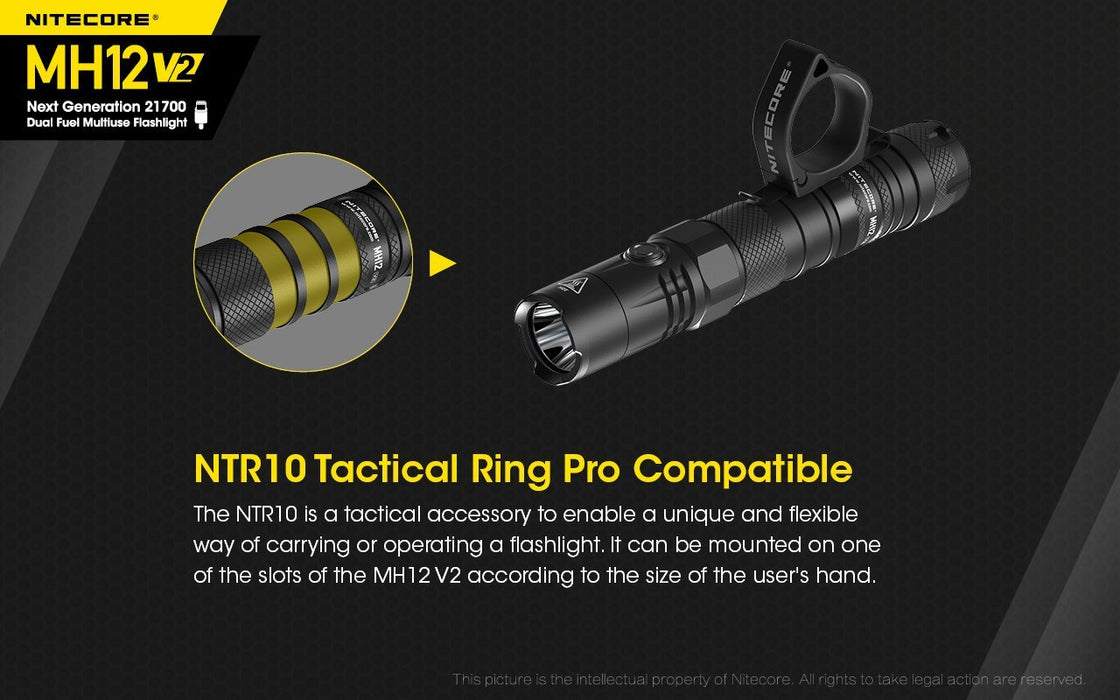 Nitecore MH12 V2 1200 Lumens Rechargeable LED Flashlight