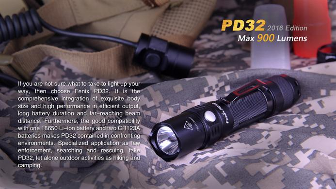 Fenix PD32 2016 Edition LED EDC Flashlight