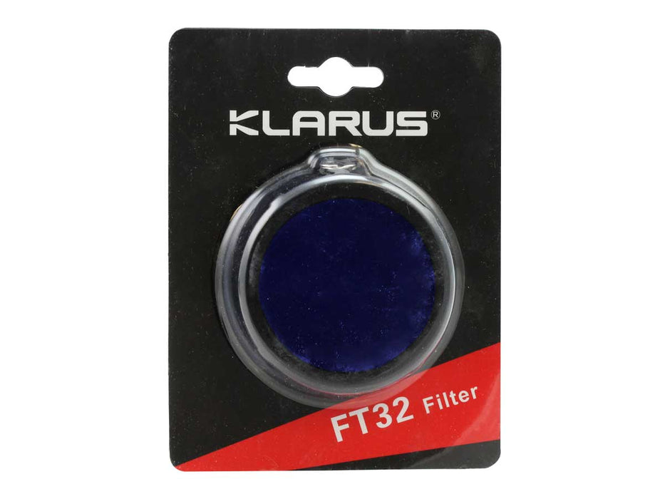 Klarus FT32 High Elastic Silicone Body Flashlight Filter (BLUE)