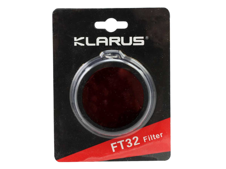 Klarus FT12 High Elastic Silicone Body Flashlight Filter (RED)