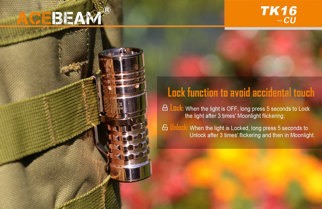 AceBeam TK16 AL EDC LED Flashlight Flashlight Acebeam