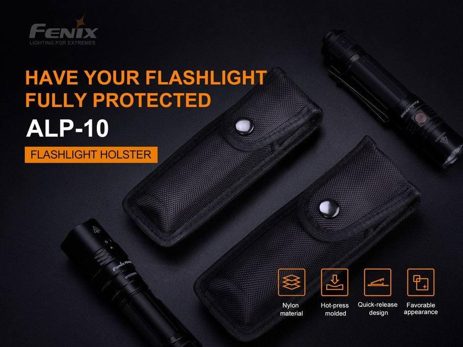 Fenix Holster ALP10 - Small or Large (Color: Black)