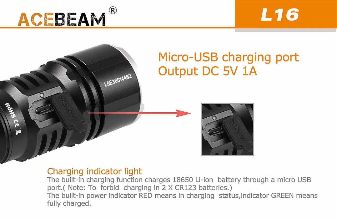 Acebeam L16 Flashlight