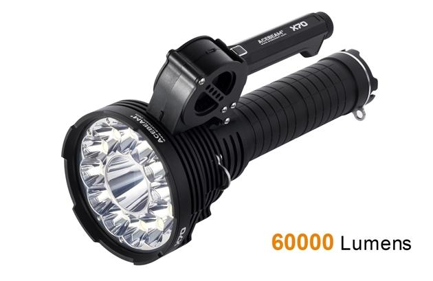 Acebeam LED X70 - 60 000 Lumens Rechargeable Flashlight