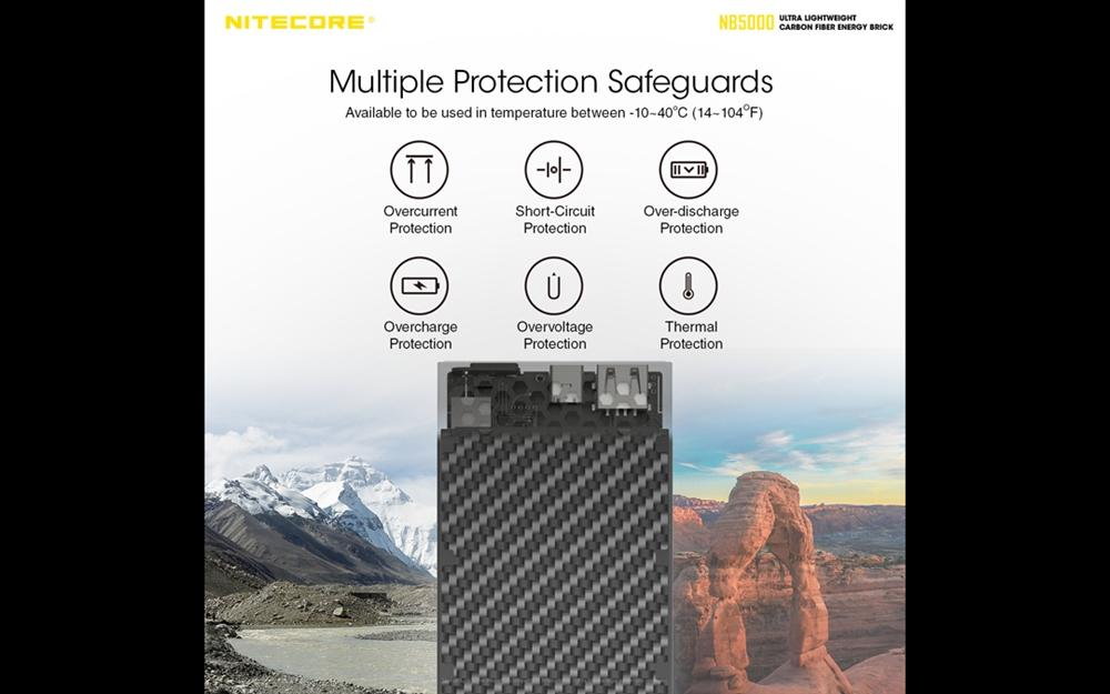Nitecore NB5000 5000mAh Dual-Output USB and USB-C Power Bank