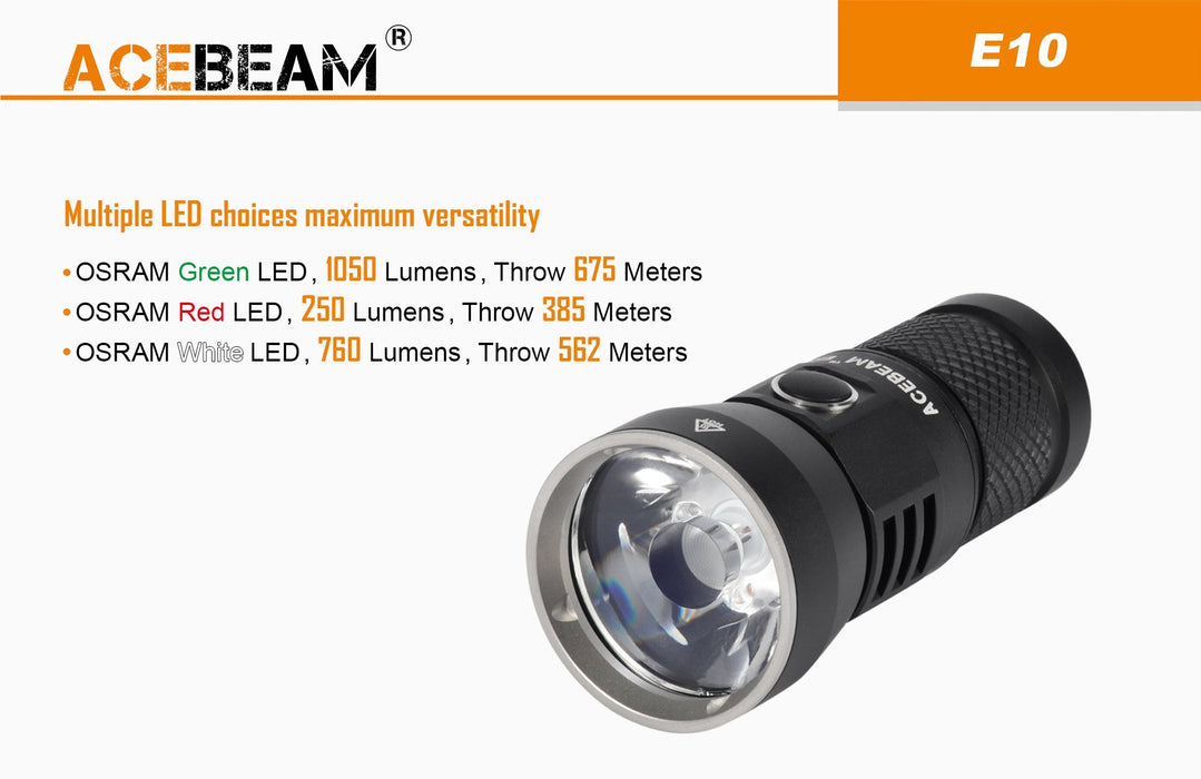 Acebeam E10 760 Lumens LED EDC Flashlight