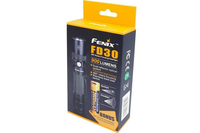 Fenix FD30 Focus Beam LED Flashlight + 18650 2600U battery