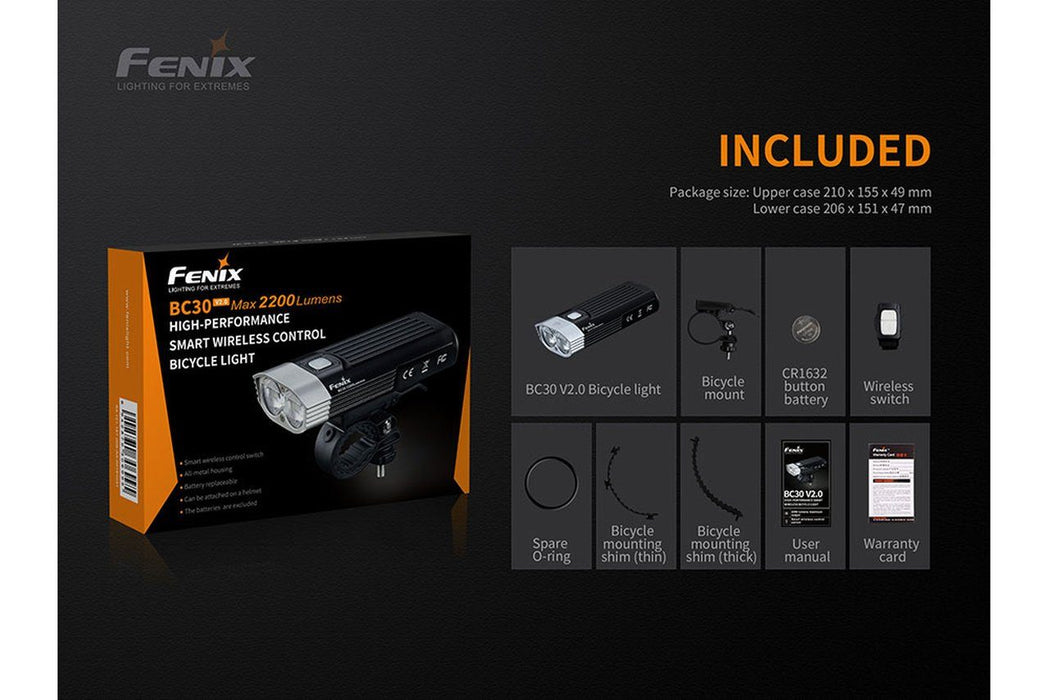 Fenix BC30 V2.0 With Wireless Remote Switch LED Bike Light