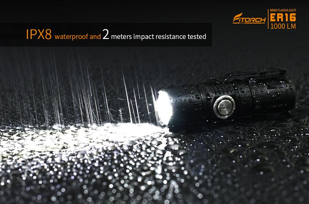FiTorch ER16 Magnetic Tail Rechargeable LED  Flashlight 1000 Lumens