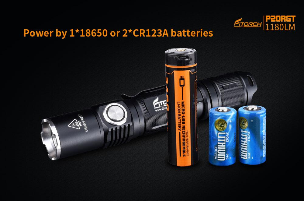 FiTorch P20RGT Tactical 1180 Lumens LED  Flashlight