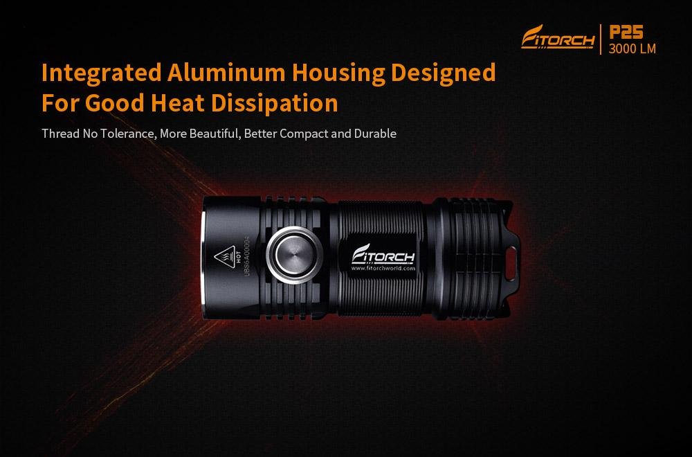 FiTorch P25 Little Fatty 3000 Lumens LED Flashlight Flashlight FiTorch