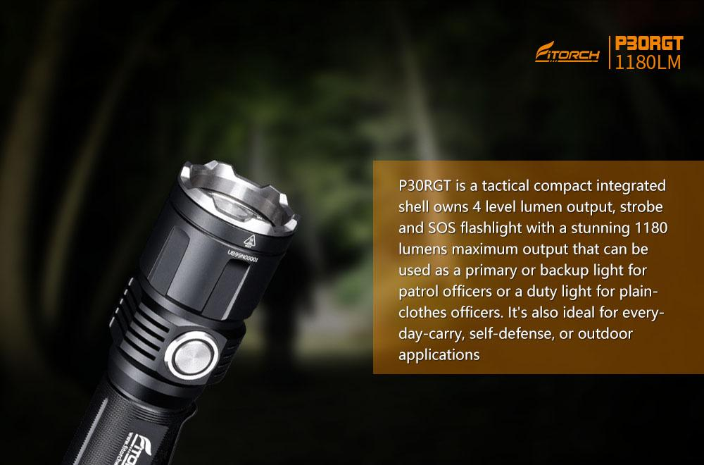 FiTorch P30RGT Rechargeable LED Flashlight Flashlight FiTorch
