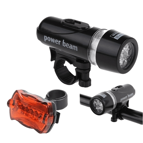 Alonefire 5 LED Bicycle Headlight + Rear light
