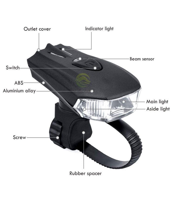 Smart Road Mountain Rechargeable 500 Lumens Bike LED Bicycle Flashlight