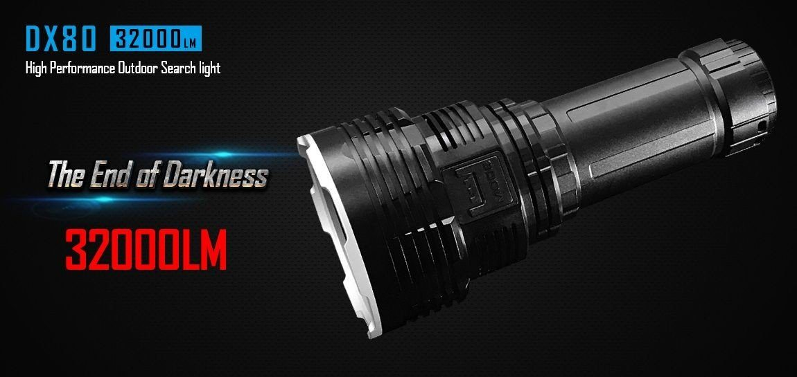 Imalent DX80 - 32 000 Lumens Rechargeable LED Flashlight