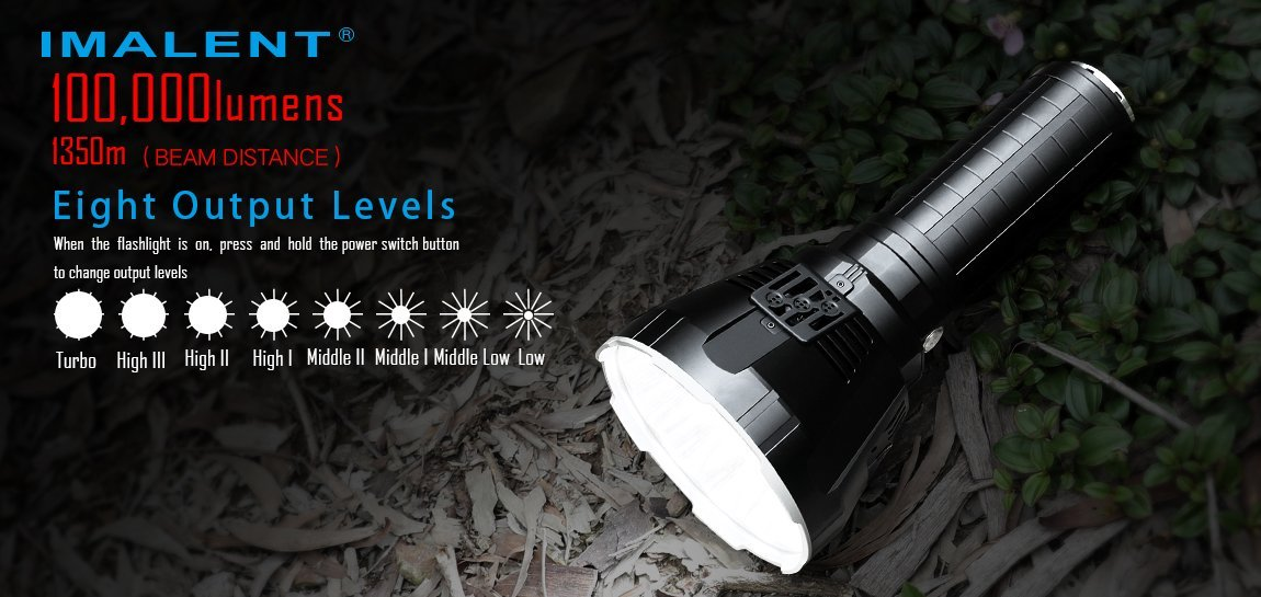 Imalent MS18 Search LED Flashlight - 100 000 Lumens