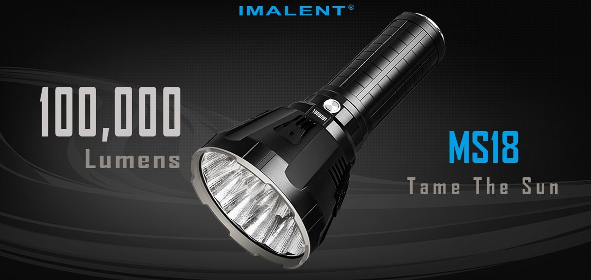 Imalent MS18 Search Flashlight - 100 000 Lumens