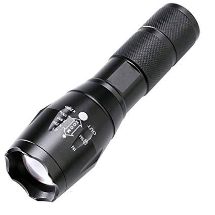 Zoomable LED Tactical Military Flashlight (E17 Gladiator) - 1040 Lumens Flashlight FlashLightWorld Canada