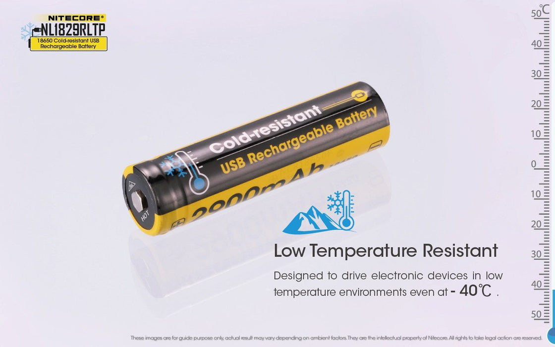 Nitecore NL1829RLTP Cold Resistant USB Rechargeable Battery