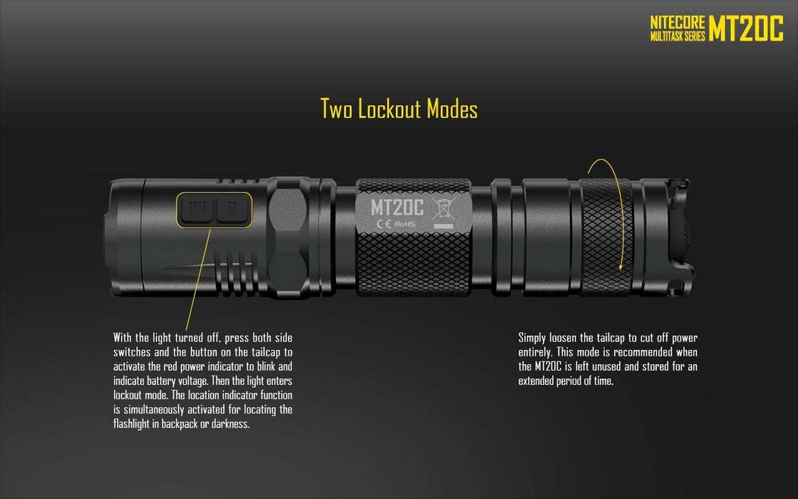 Nitecore MT20C LED Flashlight Flashlight Nitecore