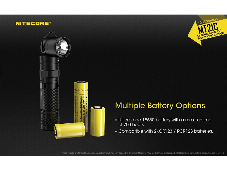 Nitecore MT21C Multi-Task Adjustable Head Flashlight FlashLightWorld Canada