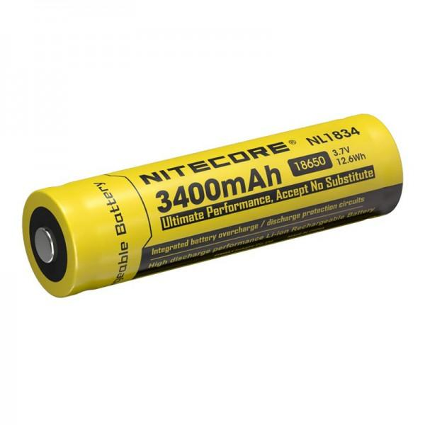 Nitecore NL1834 18650 3400mAh 3.7V Protected Lithium Ion (Li-ion) Button Top Battery
