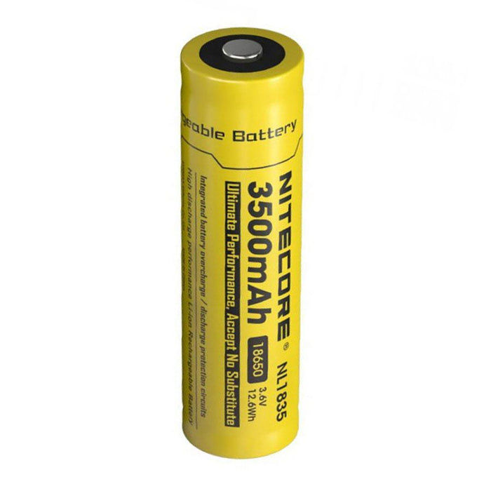Nitecore NL1835 18650 3500mAh 3.6V Protected Lithium Ion (Li-ion) Button Top Battery
