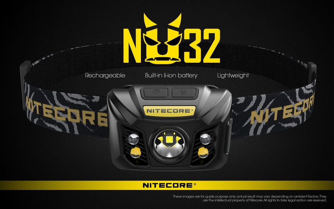 Nitecore NU32 Rechargeable LED Headlamp with White and Red Beam Headlamp Nitecore