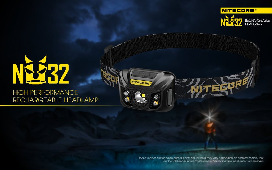 Nitecore NU32 Rechargeable LED Headlamp with White and Red Beam