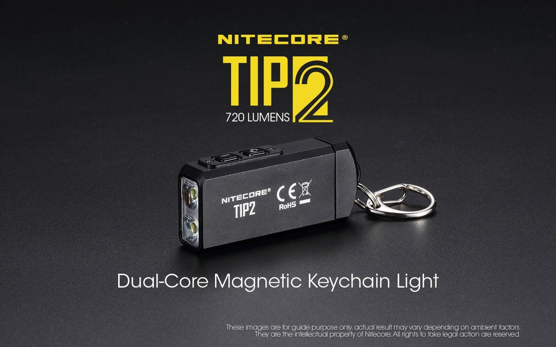 Nitecore Tip2 720 Lumens USB Rechargeable LED Keychain Light