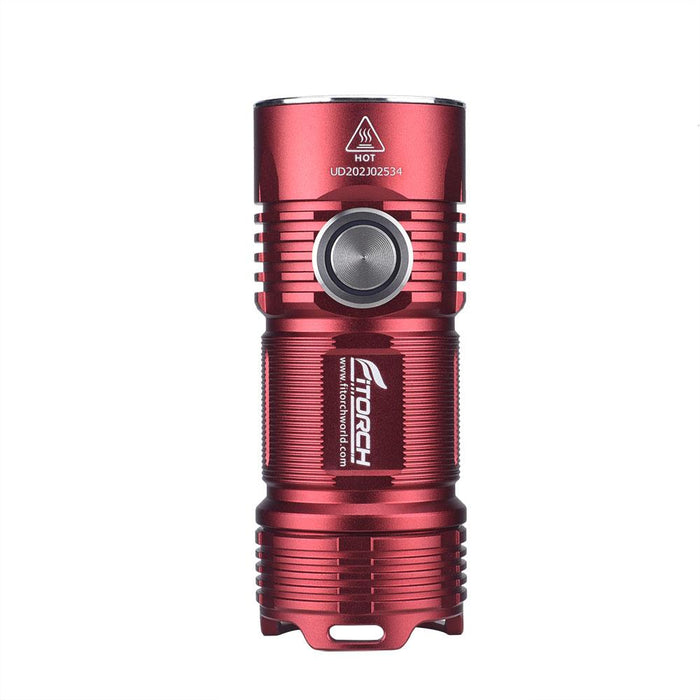 FiTorch P25 3000 Lumens Rechargeable LED EDC Flashlight - Choice of Blue or Red Flashlight FiTorch Red