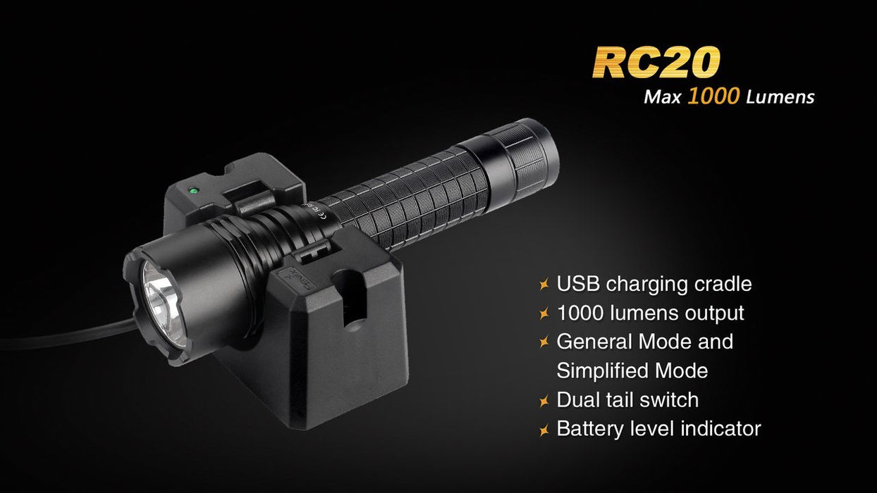 Fenix RC20 Rechargeable LED Flashlight Flashlight Fenix